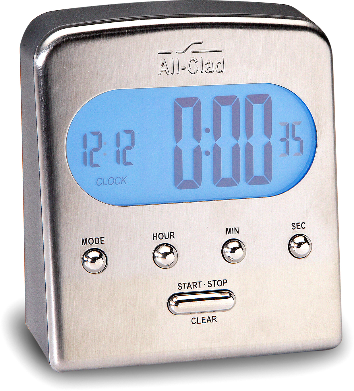 All-Clad Gourmet Accessories Stainless Steel Digital Timer and Clock