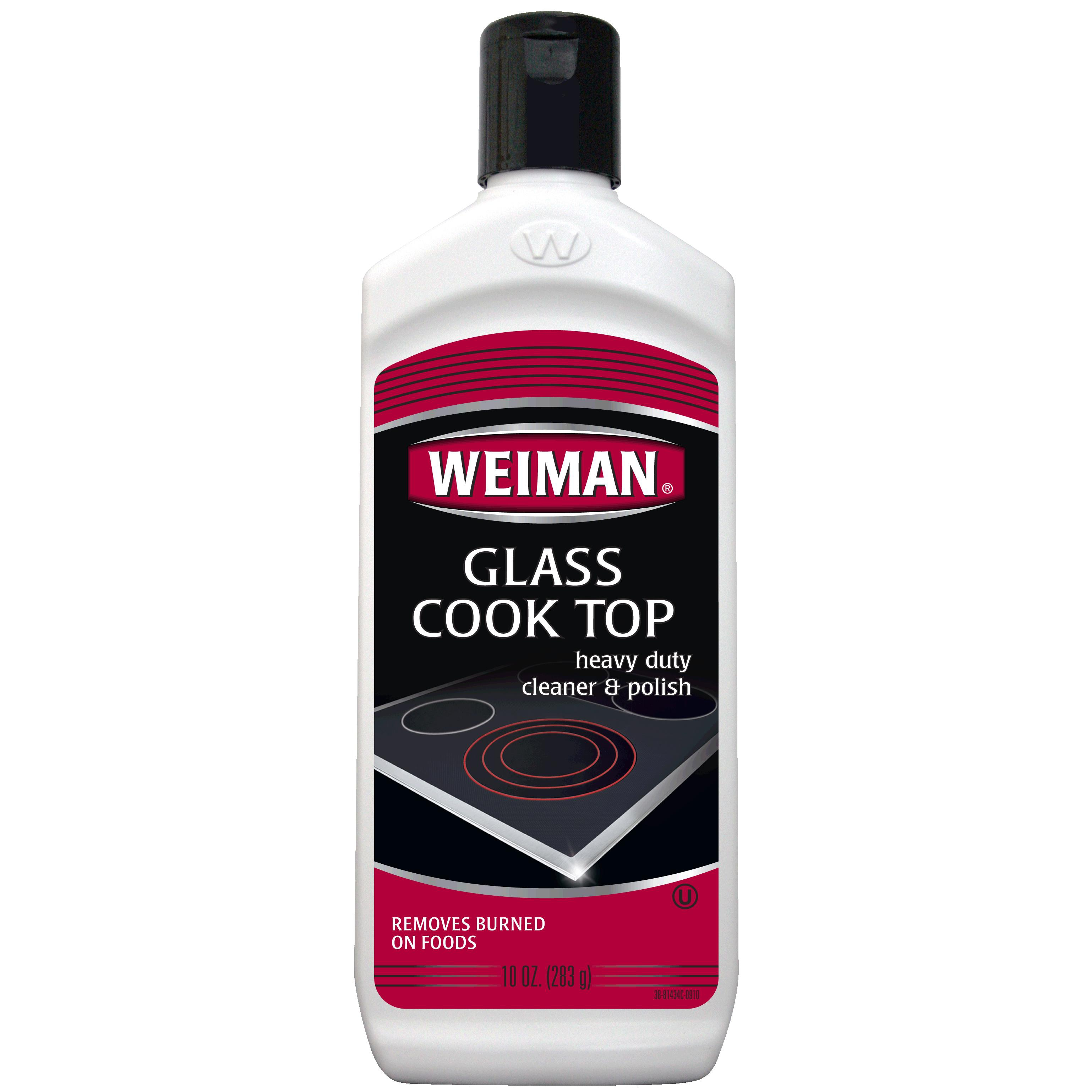 Weiman Heavy Duty Glass Cook Top Cleaner and Polish, 10 Ounce