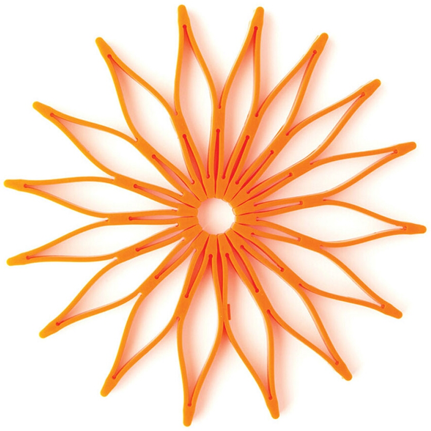 Spice Ratchet Orange Silicone Blossom Trivet