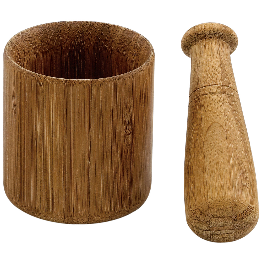Helen Chen Caramelized Bamboo Mortar and Pestle