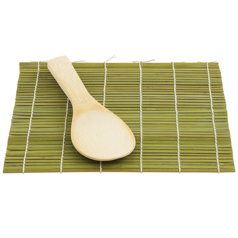 Helen Chen Asian Kitchen Bamboo Sushi Mat and Paddle