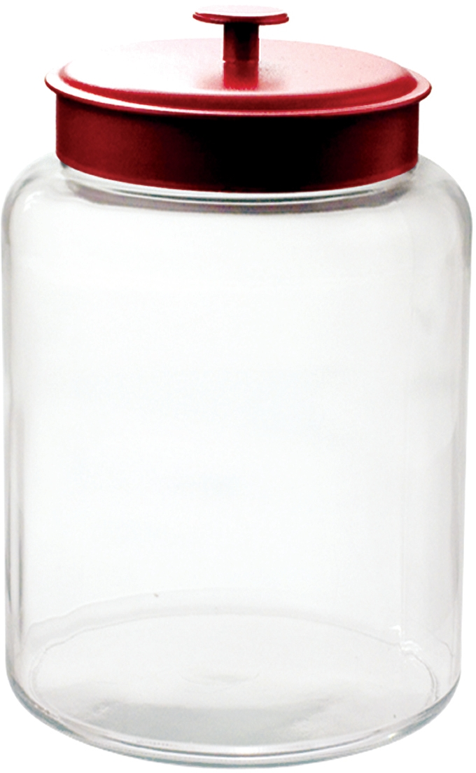 Anchor Hocking Glass Montana Jar with Red Aluminum Cover, 2.5 Gallon