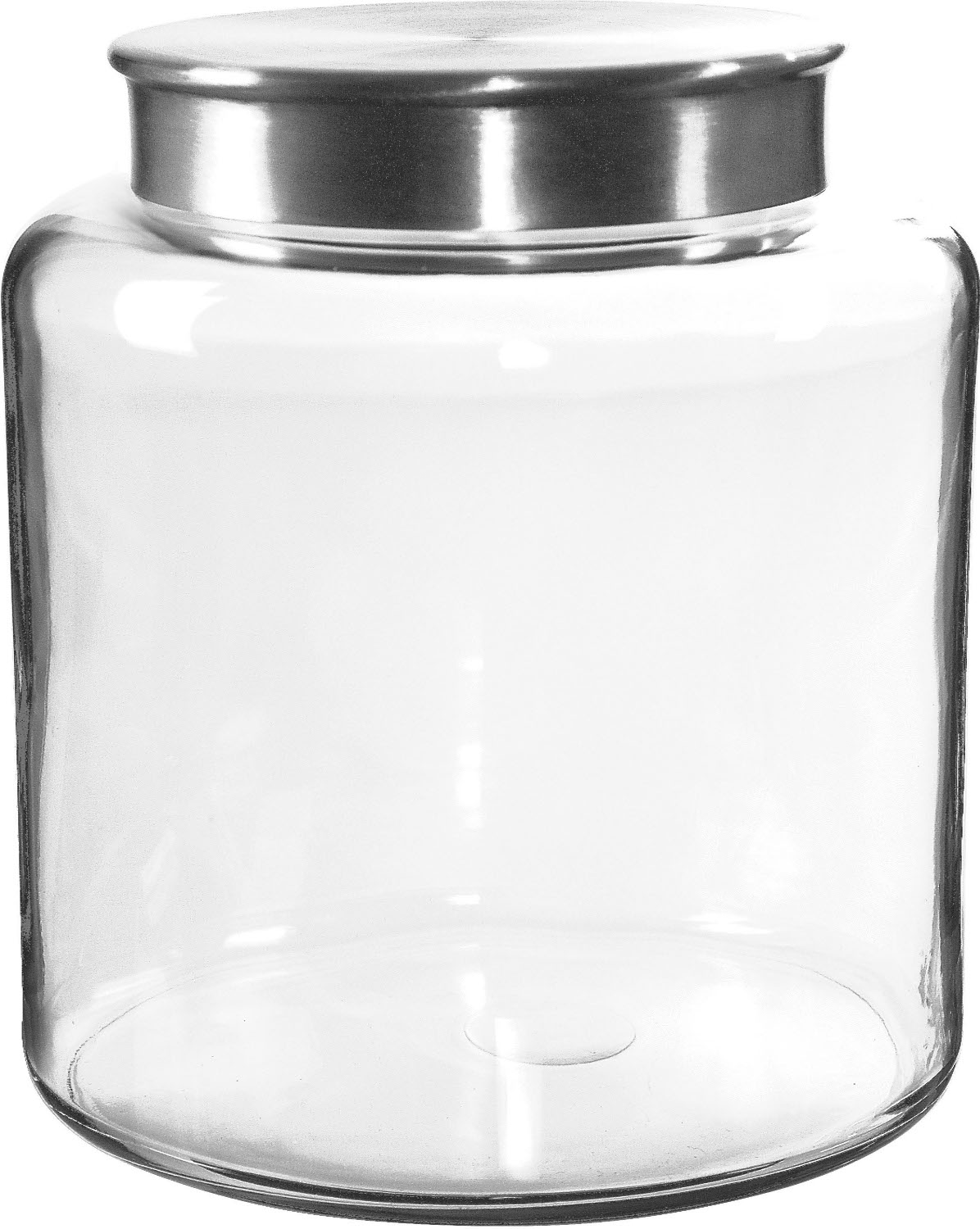 Anchor Hocking Glass Modern Montana Jar with Brushed Aluminum Cover, 2.5 Gallon
