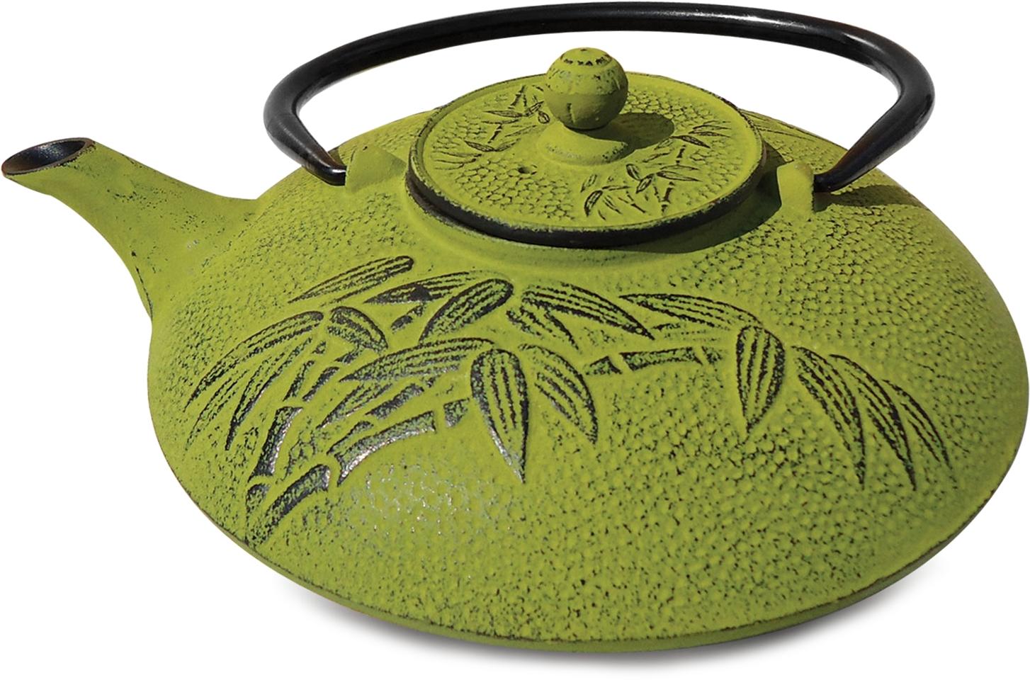 Old Dutch Positivity Bamboo Moss Green Cast Iron Teapot
