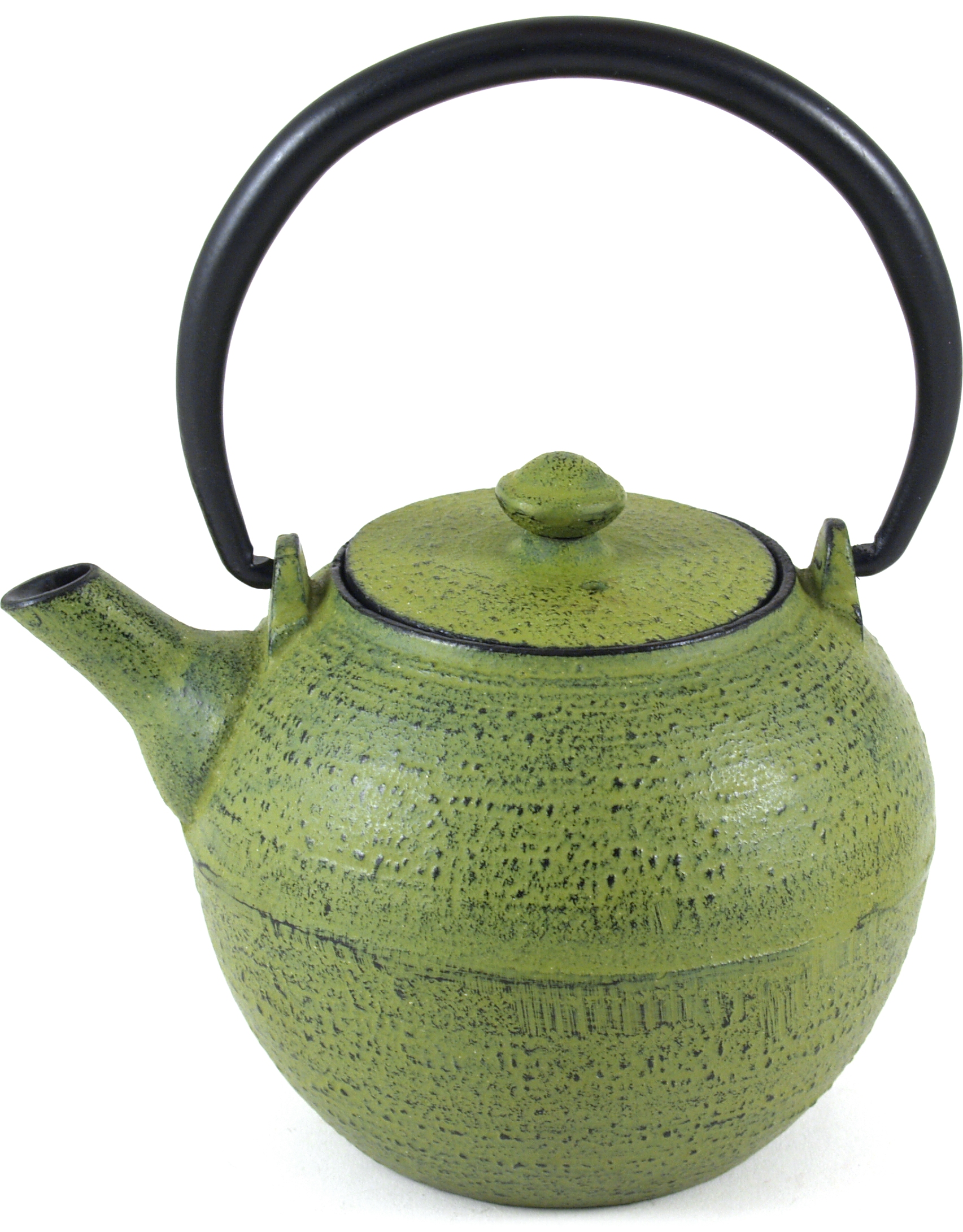 Old Dutch Infinity Moss Green Cast Iron Teapot, 18 Ounce