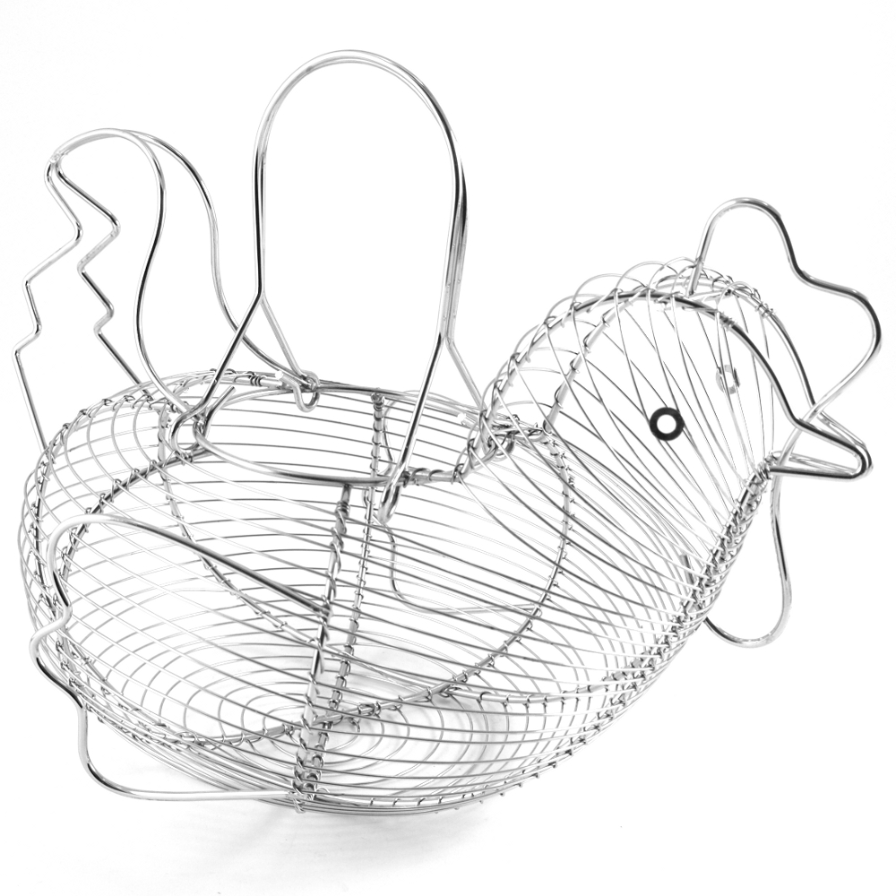 Supreme Housewares Stainless Steel Hen-Shaped Egg Basket