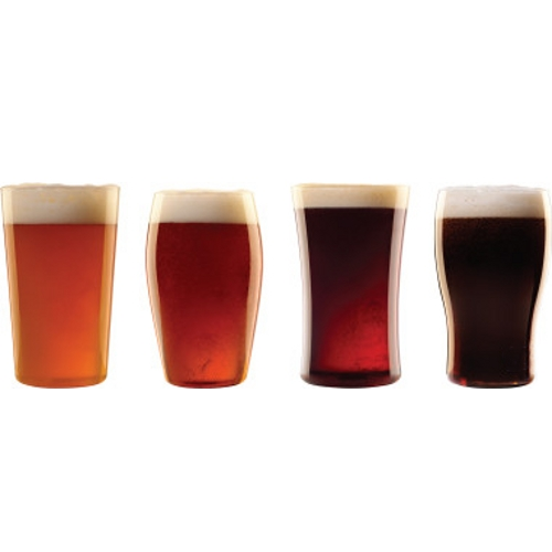 Luigi Bormioli Social Ave 4 Piece Beer EssentiALES Glass Set, 17.5 Ounce