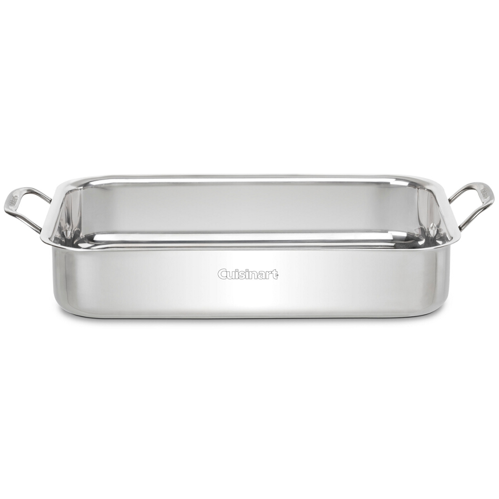Cuisinart Chef's Classic Stainless Steel Lasagna Pan with Roasting Rack, 14 Inch