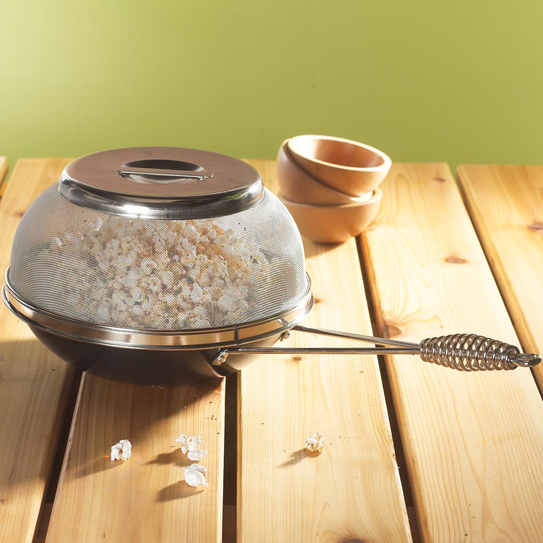 Nordic Ware Aluminum Campfire and Stovetop Popcorn Popper, 3.5 Quart