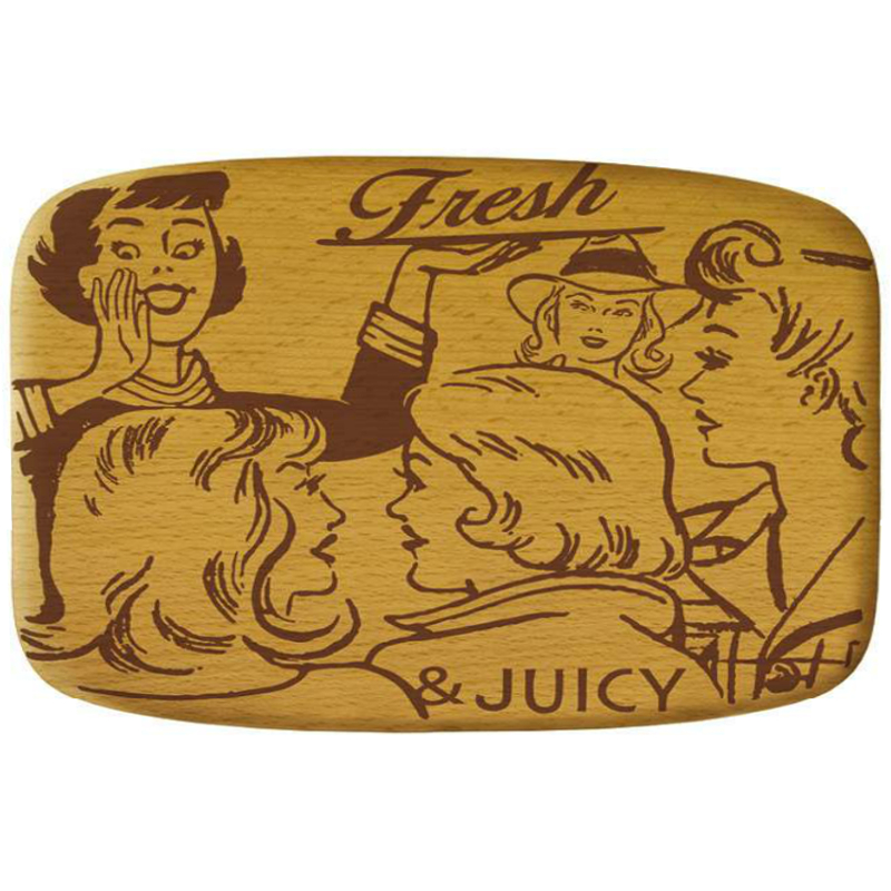 Talisman Designs Pop Art Fresh and Juicy Beechwood Cheese Board