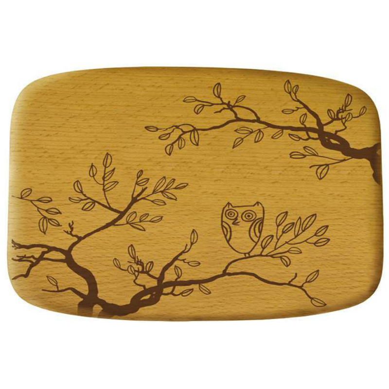 Talisman Designs Nature Owl Beechwood Cheese Board