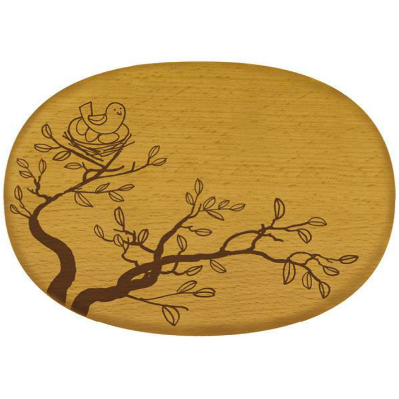 Talisman Designs Nature Bird Nest Beechwood Cheese Board