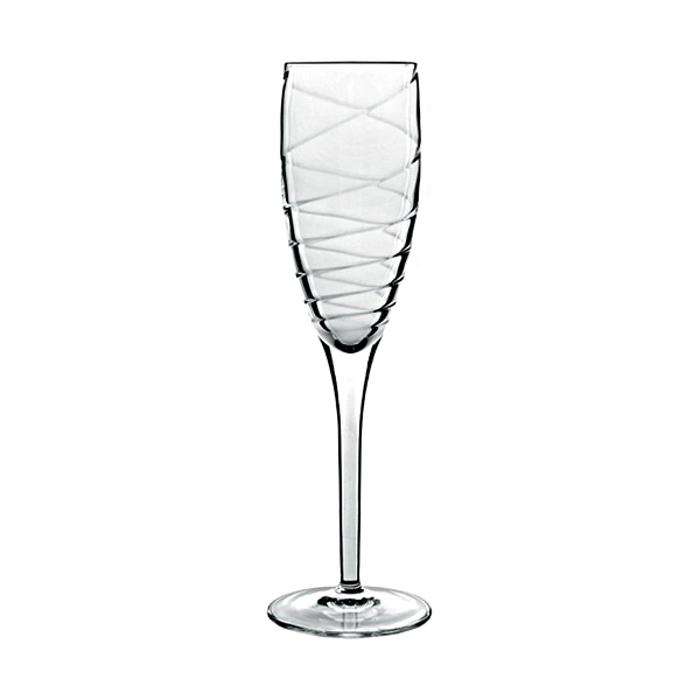 Luigi Bormioli Romantica 6.75 Ounce Champagne Flute, Set of 4