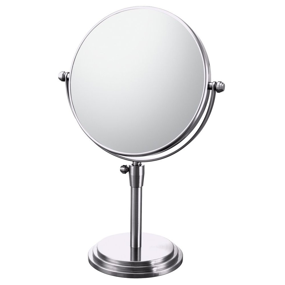 Mirror Image Chrome Classic Adjustable 5x Magnifying Vanity Mirror