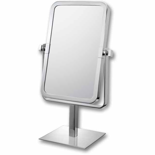 Mirror Image Chrome Double-Sided Rectangular 3x Magnifying Vanity Mirror