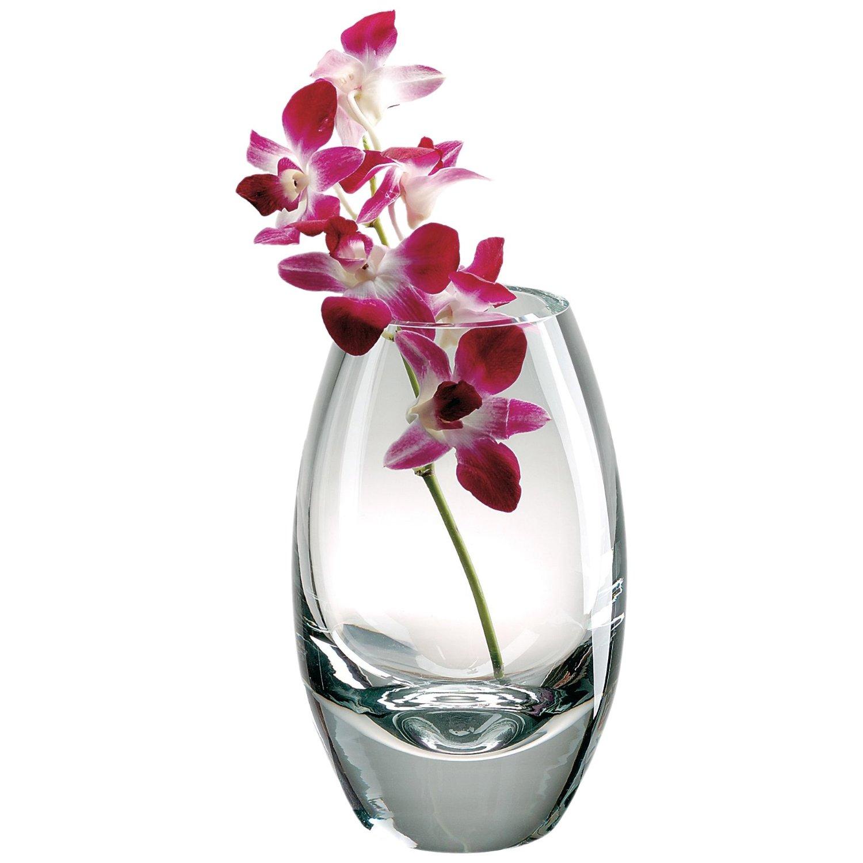 Badash Crystal Mouth Blown Radiant Vase, 11 Inch