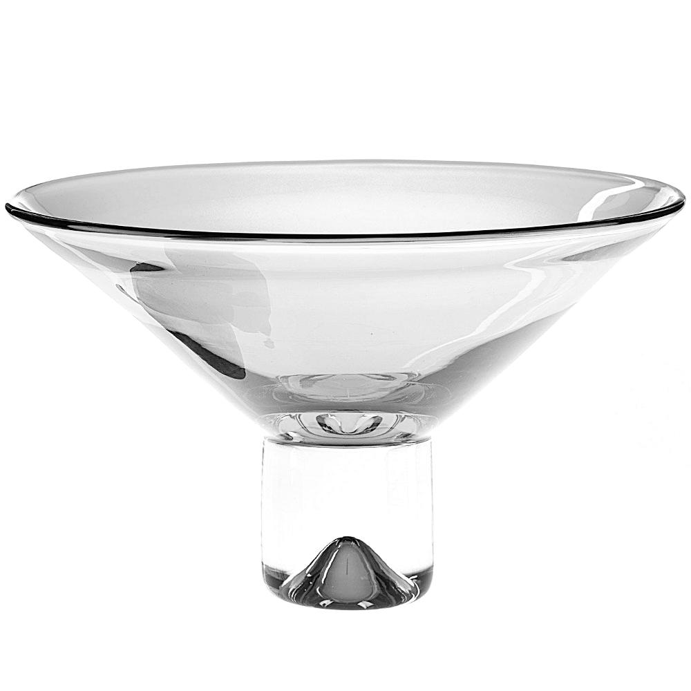 Badash Crystal Clear Monaco Pedestal Bowl, 12 Inch