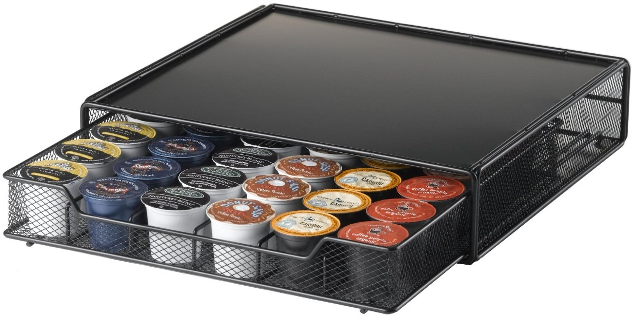 Nifty Home Products Black K-Cup Coffee Organizer Drawer, 36 Cup