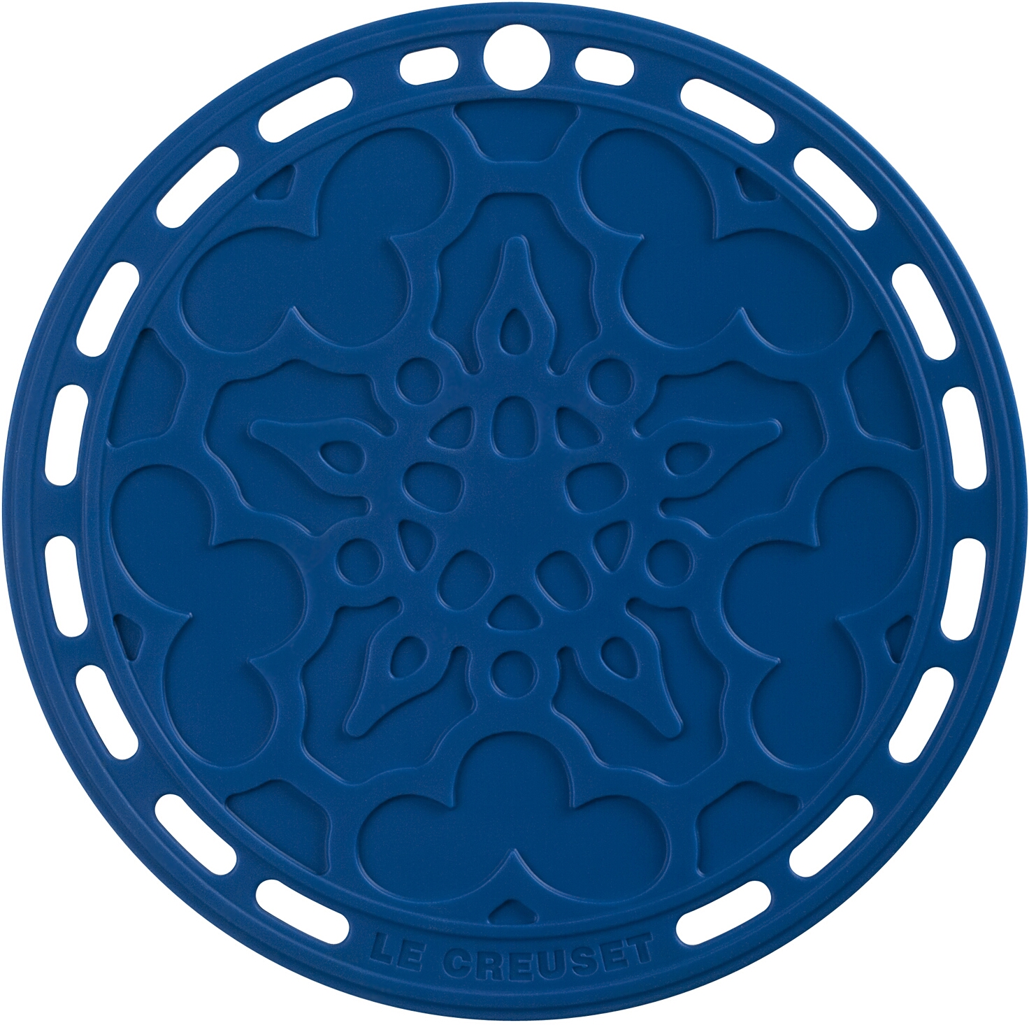 Le Creuset Marseille Blue Silicone French Trivet, 8 Inch
