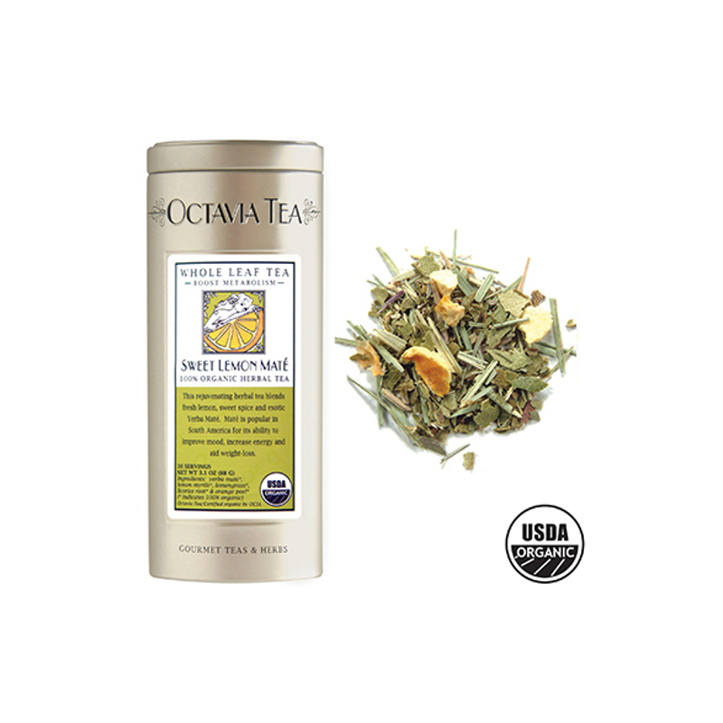 Octavia Sweet Lemon 100% Organic Yerba Mate Tea Loose