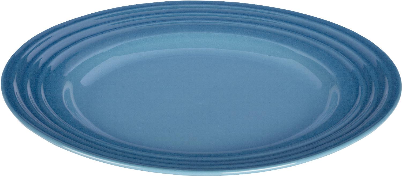 Le Creuset Marseille Blue Stoneware Dinner Plate, 12 Inch