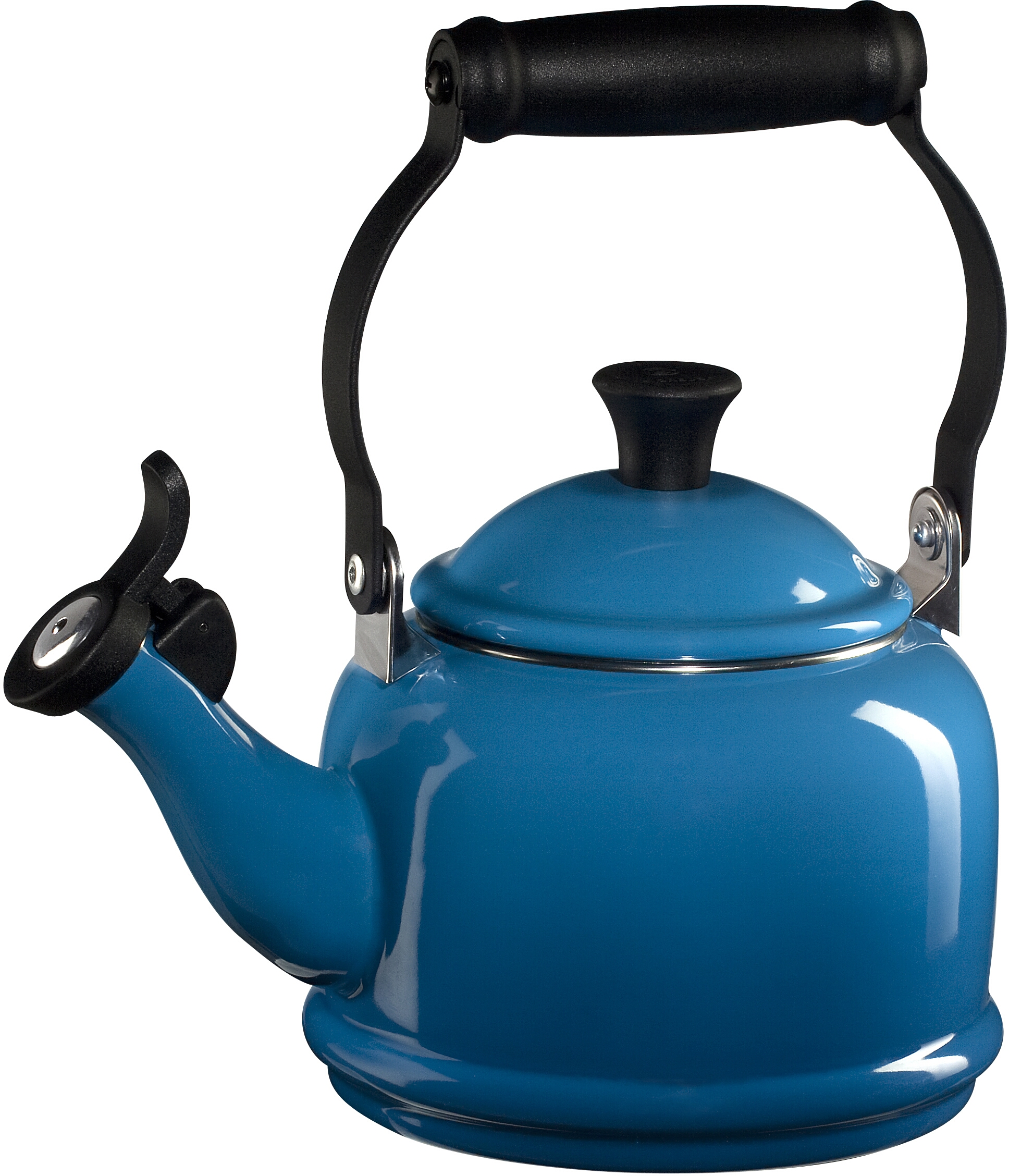 Le Creuset Marseille Blue Enamel On Steel Demi Tea Kettle, 1.25 Quart