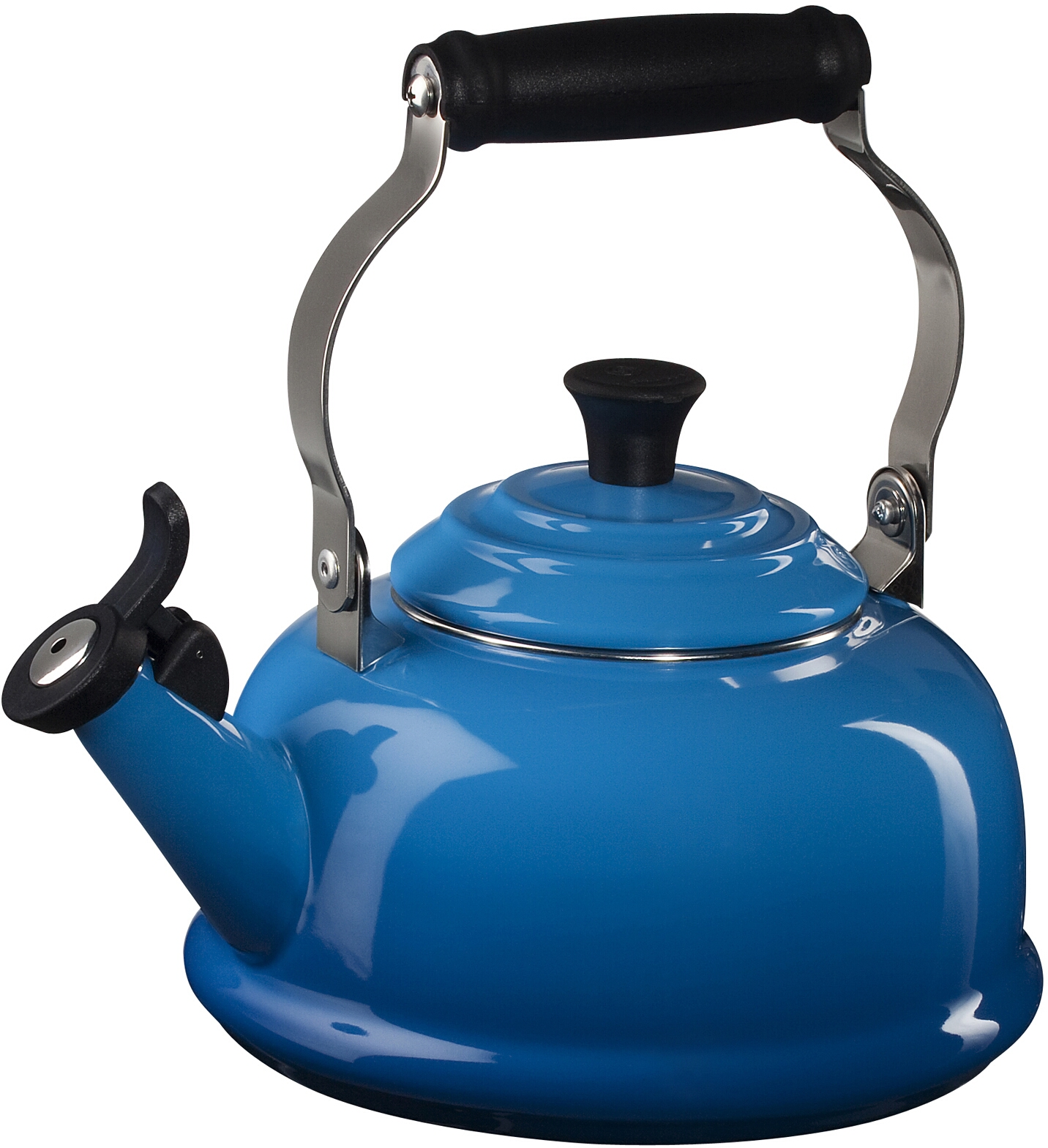 Le Creuset Marseille Blue Enamel On Steel Whistling Tea Kettle, 1.75 Quart