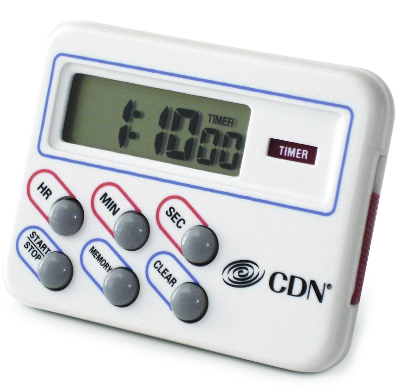 CDN White Digital Kitchen Timer and Clock
