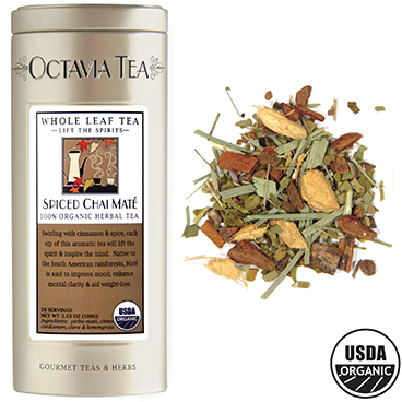 Octavia Spiced Chai 100% Organic Yerba Mate Tea Loose