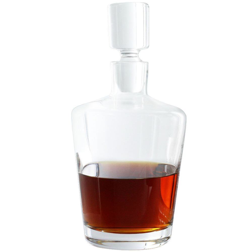 Wine Enthusiast Ambassador Crystal Whiskey Decanter, 35 Ounce