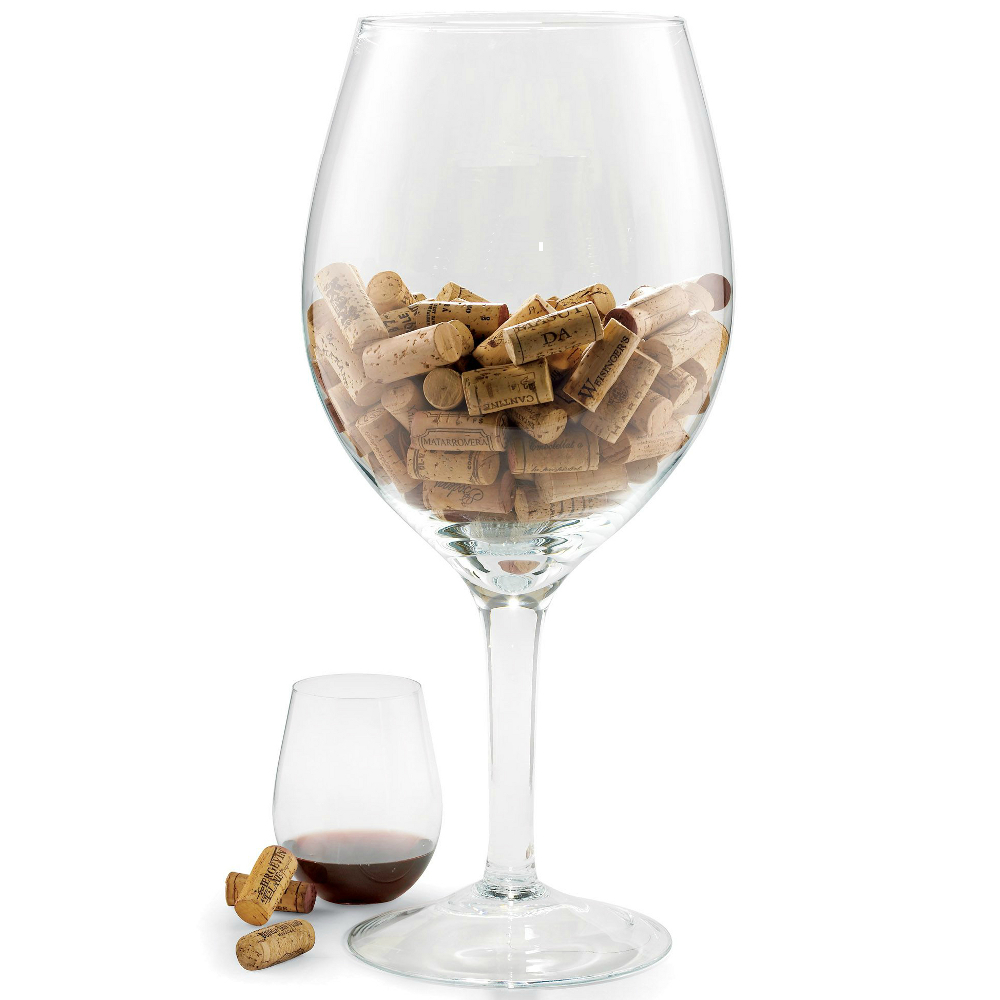 Wine Enthusiast Oversized Wine Glass Cork Holder, 20 Inch