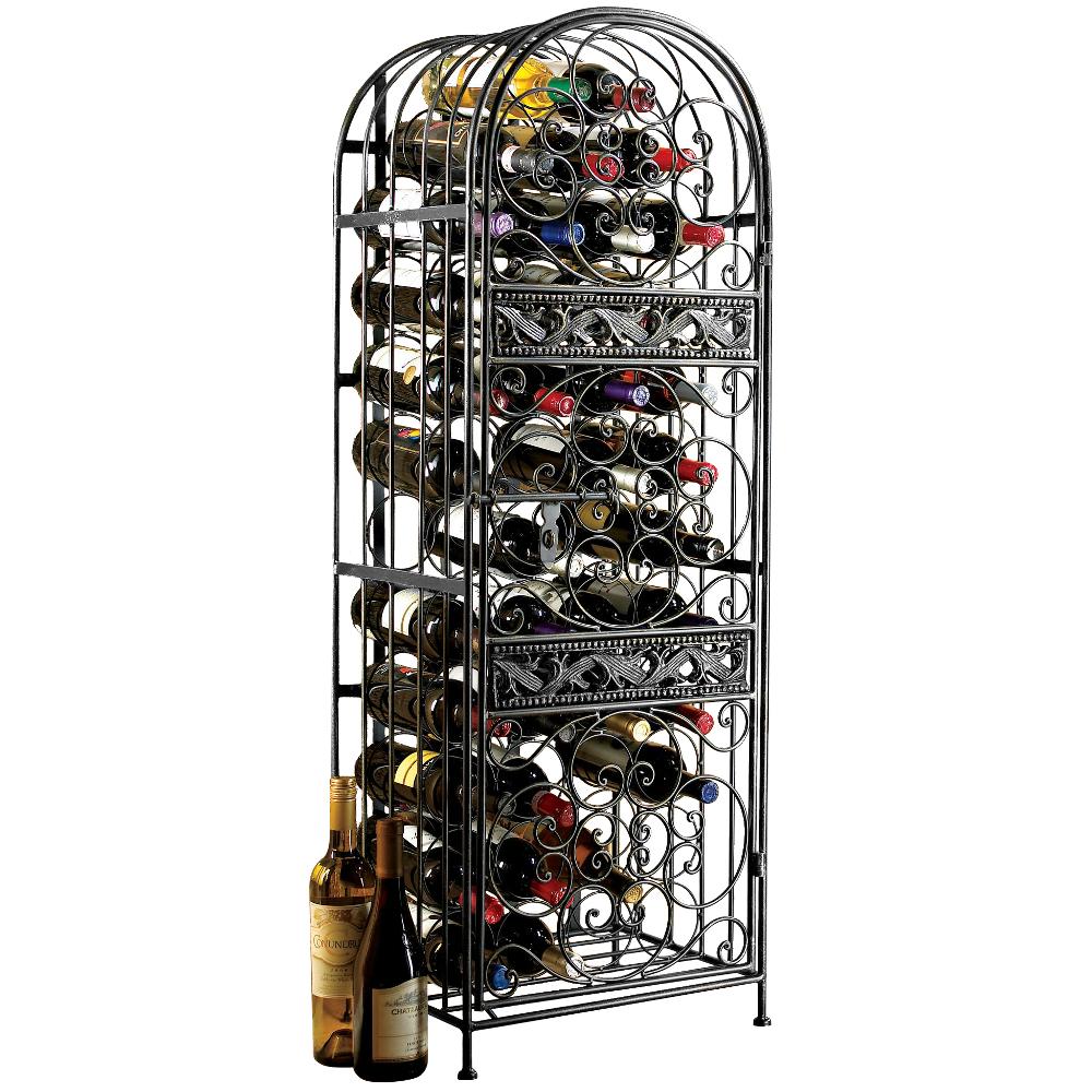 Wine Enthusiast Renaissance Wrought Iron Wine Jail, 45 Bottle