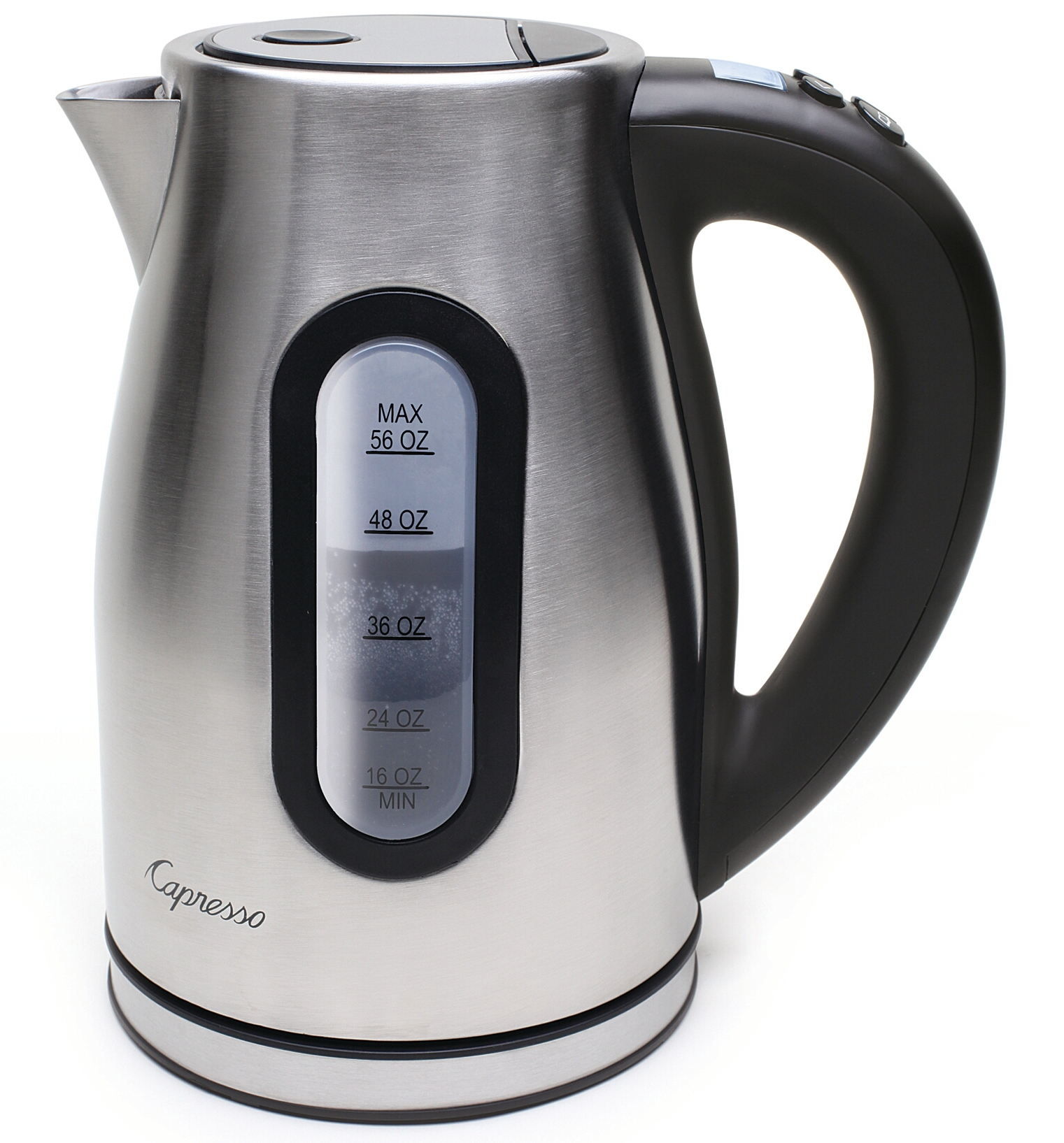 Capresso H2O Pro Programmable Cordless Stainless Steel Water Kettle, 56 ounce