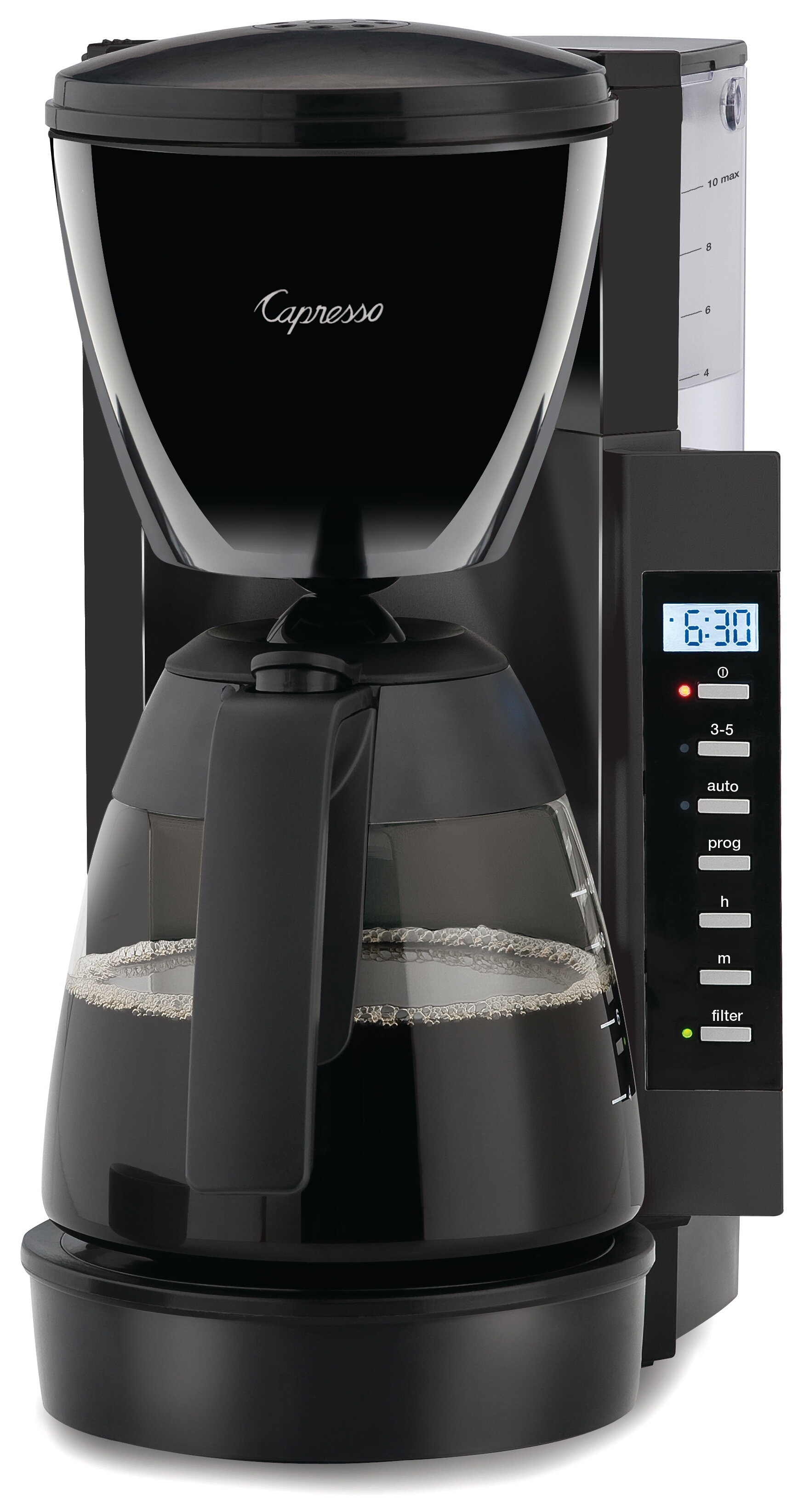 Capresso CM200 Space Saving Programmable Coffee Maker, 10 Cup
