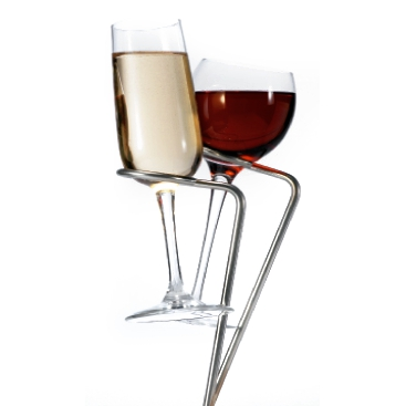 Tovolo Stainless Steel SteadySticks Wine Glass Holder, Set of 2