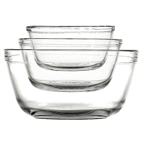 Anchor Hocking 3 Piece Nesting Glass Mixing Bowl Set