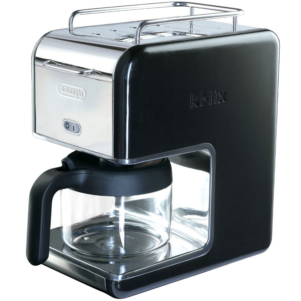 Delonghi Black Kmix Drip Coffee Maker, 5 Cup