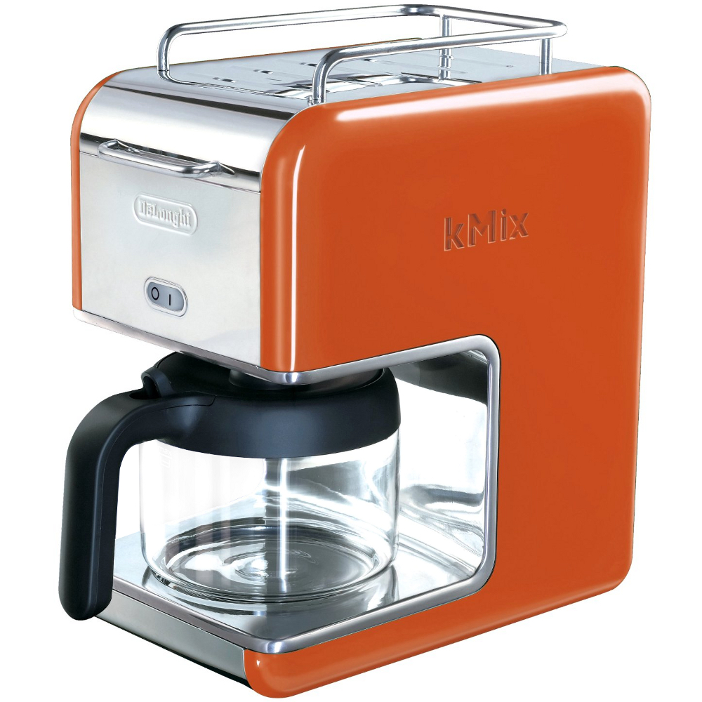 Delonghi Orange Kmix Drip Coffee Maker, 5 Cup