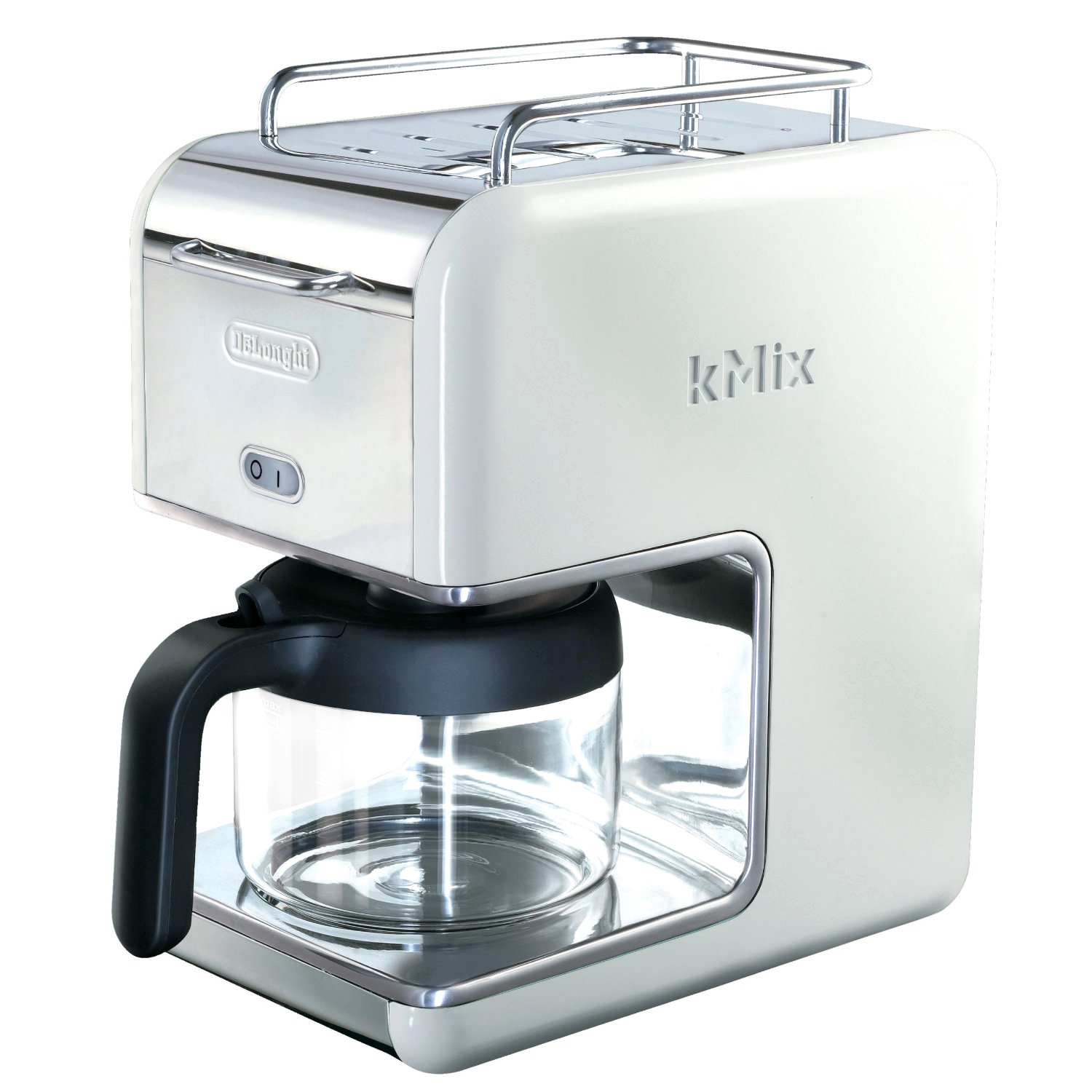 Delonghi White Kmix Drip Coffee Maker, 5 Cup