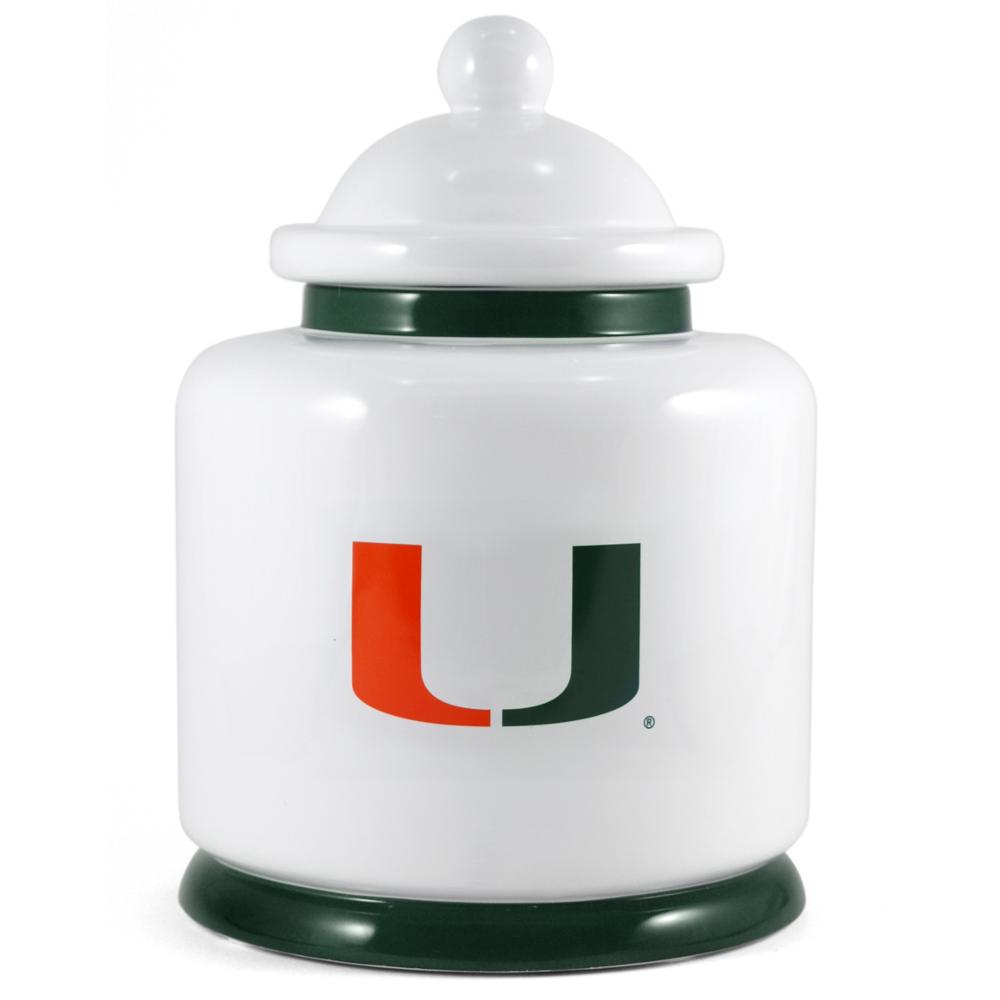 University of Miami Hurricanes Ceramic Cookie Jar