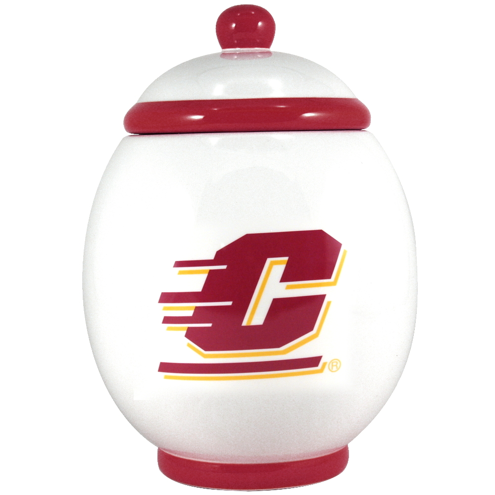Central Michigan University Chippewas Ceramic Cookie Jar