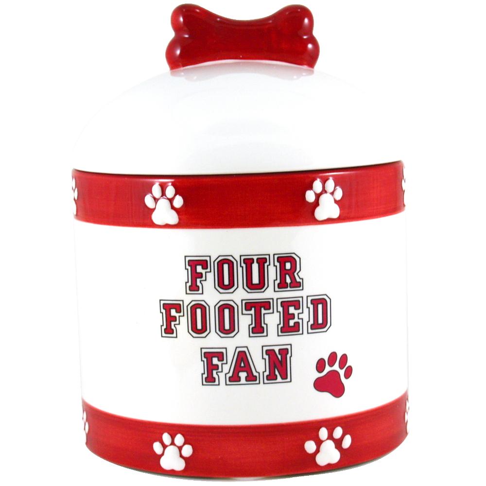 University of Wisconsin Badgers Ceramic Dog Treat Jar