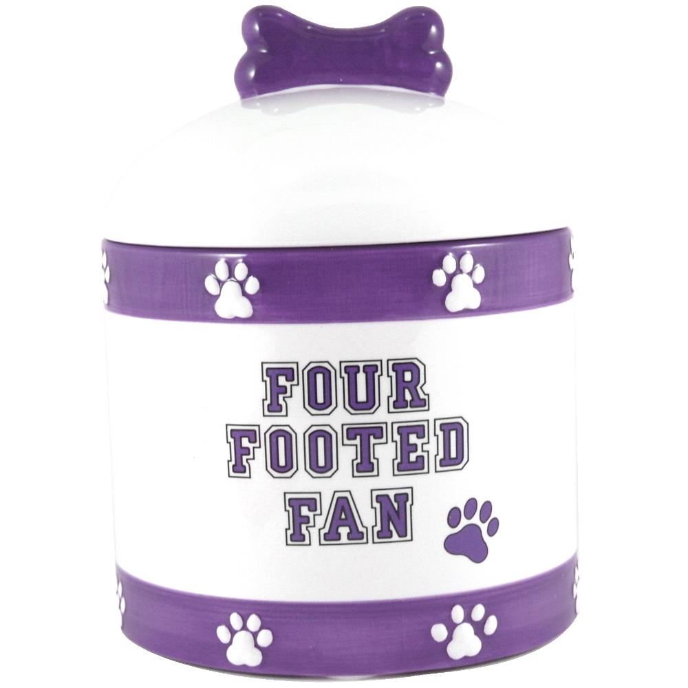 Louisiana State University Tigers Ceramic Dog Treat Jar
