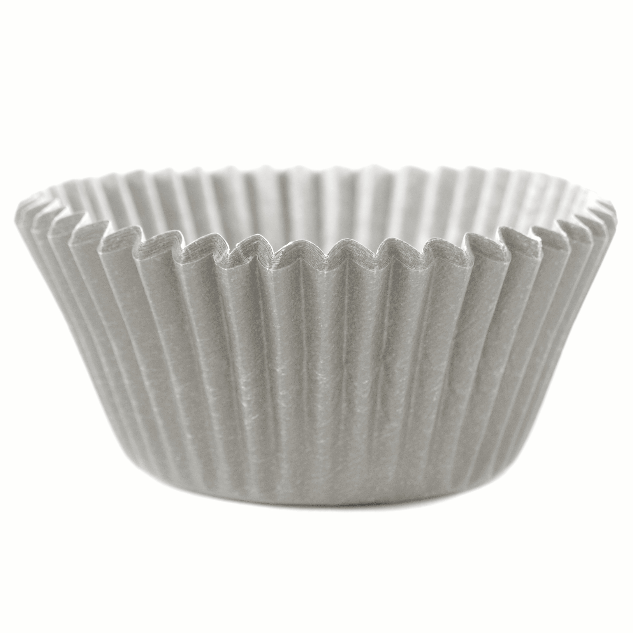 Cupcake Creations Solid Silver Baking Cup, Set of 32