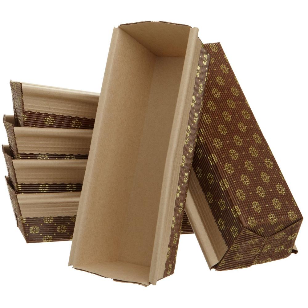 Kitchen Supply Set of 6 Paper Loaf Pans, 9 Inch