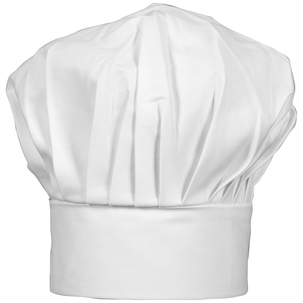 Kitchen Supply White Twill Adjustable Chef's Hat