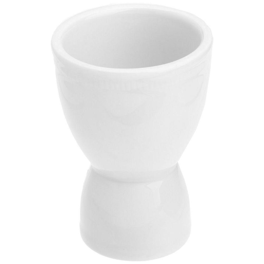Kitchen Supply White Porcelain Double Egg Cup