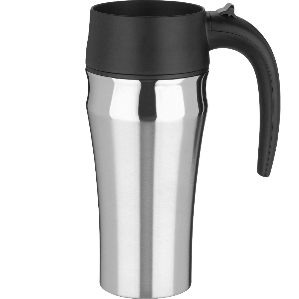 Trudeau Sirius Satin Finish Stainless Steel Travel Mug, 16 Ounce