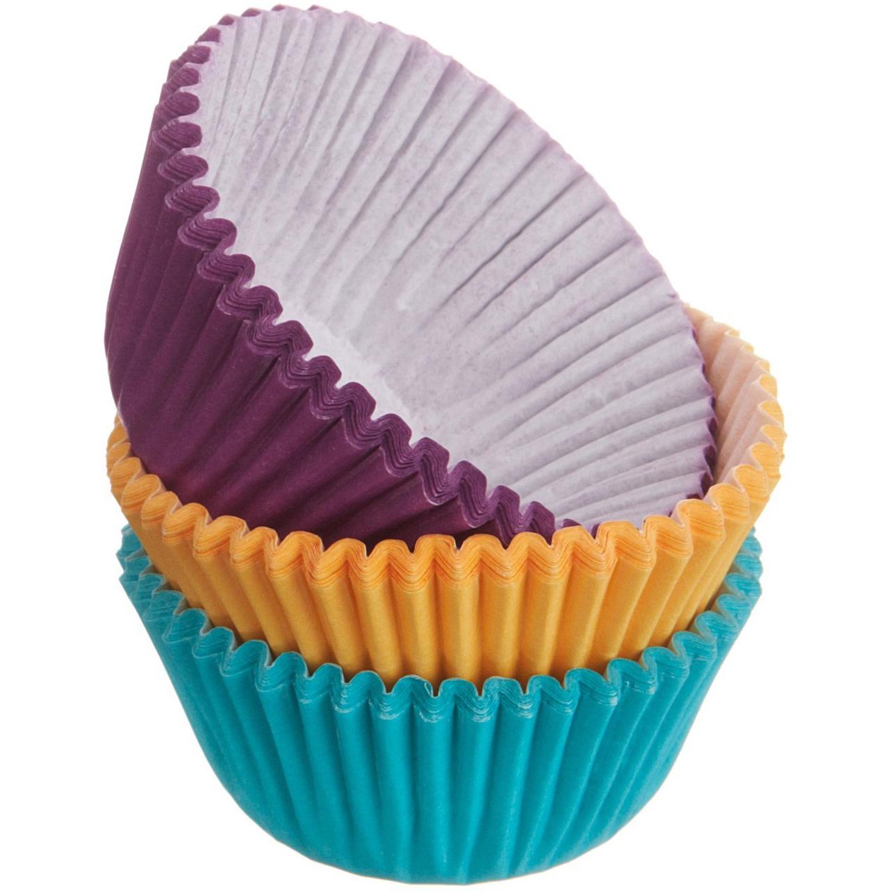 Wilton Jewel Toned Mini Cupcake Baking Cup, 100 Count