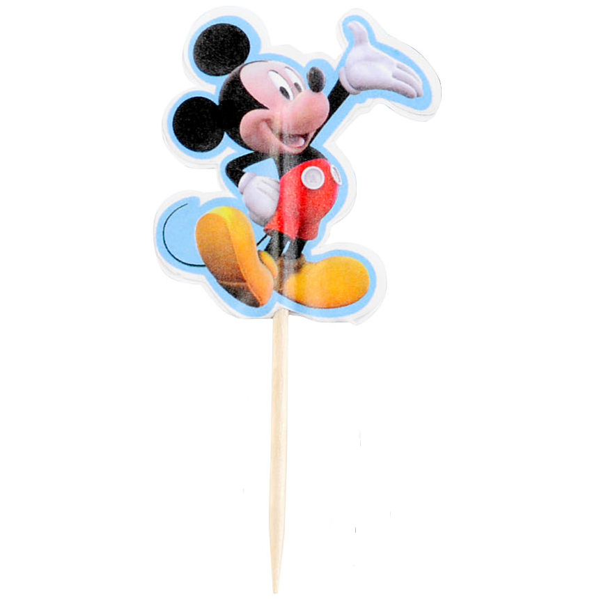 Wilton Mickey Mouse Clubhouse Paper Fun Pix Cupcake Topper, Set of 24